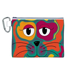 Colorful cat 2  Canvas Cosmetic Bag (L)