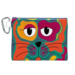 Colorful cat 2  Canvas Cosmetic Bag (XL)