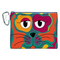 Colorful cat 2  Canvas Cosmetic Bag (XXL)