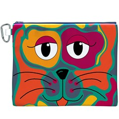 Colorful cat 2  Canvas Cosmetic Bag (XXXL)