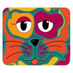 Colorful cat 2  Double Sided Flano Blanket (Small)