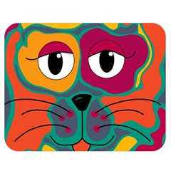 Colorful cat 2  Double Sided Flano Blanket (Medium)