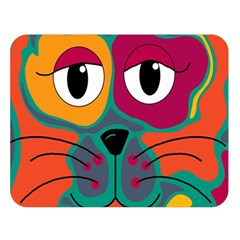Colorful cat 2  Double Sided Flano Blanket (Large)