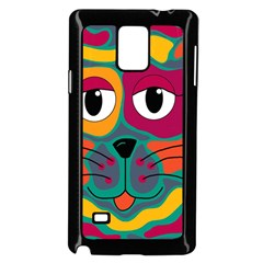 Colorful cat 2  Samsung Galaxy Note 4 Case (Black)