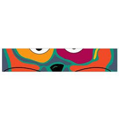 Colorful cat 2  Flano Scarf (Small)