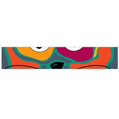 Colorful cat 2  Flano Scarf (Large)