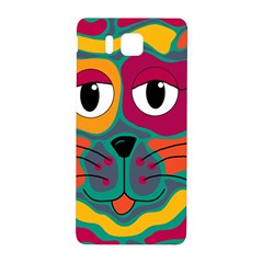 Colorful cat 2  Samsung Galaxy Alpha Hardshell Back Case