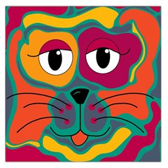 Colorful cat 2  Large Satin Scarf (Square)