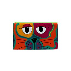 Colorful cat 2  Cosmetic Bag (XS)