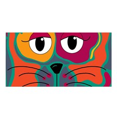 Colorful cat 2  Satin Shawl