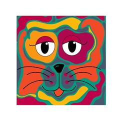 Colorful cat 2  Small Satin Scarf (Square)