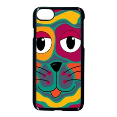 Colorful cat 2  Apple iPhone 7 Seamless Case (Black)
