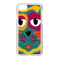 Colorful cat 2  Apple iPhone 7 Seamless Case (White)