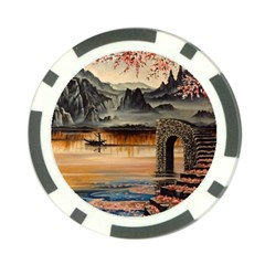 Japanese Lake Of Tranquility Poker Chip Card Guards (10 pack)