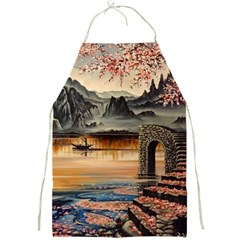 Japanese Lake Of Tranquility Full Print Aprons