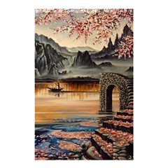 Japanese Lake Of Tranquility Shower Curtain 48  x 72  (Small)