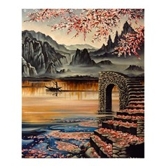 Japanese Lake Of Tranquility Shower Curtain 60  x 72  (Medium)