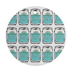 Beer Pattern Drawing Ornament (Round)