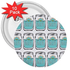 Beer Pattern Drawing 3  Buttons (10 pack)