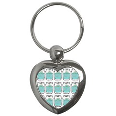 Beer Pattern Drawing Key Chains (Heart)