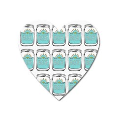 Beer Pattern Drawing Heart Magnet
