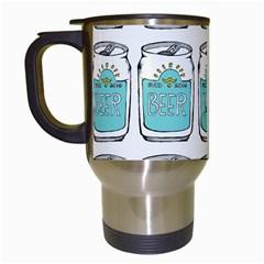 Beer Pattern Drawing Travel Mugs (White)
