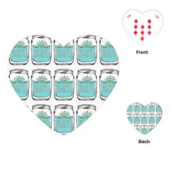 Beer Pattern Drawing Playing Cards (Heart)