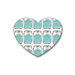 Beer Pattern Drawing Heart Coaster (4 pack)
