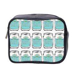 Beer Pattern Drawing Mini Toiletries Bag 2-Side