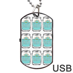 Beer Pattern Drawing Dog Tag USB Flash (One Side)