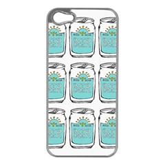 Beer Pattern Drawing Apple iPhone 5 Case (Silver)