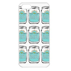 Beer Pattern Drawing Apple iPhone 5 Seamless Case (White)