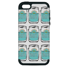 Beer Pattern Drawing Apple iPhone 5 Hardshell Case (PC+Silicone)