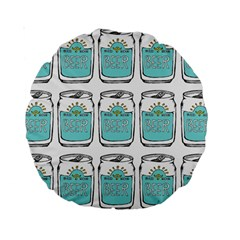 Beer Pattern Drawing Standard 15  Premium Round Cushions