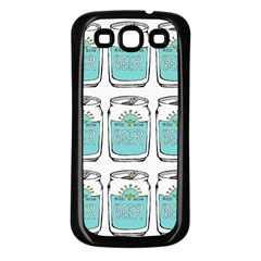 Beer Pattern Drawing Samsung Galaxy S3 Back Case (Black)