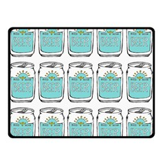 Beer Pattern Drawing Double Sided Fleece Blanket (Small)
