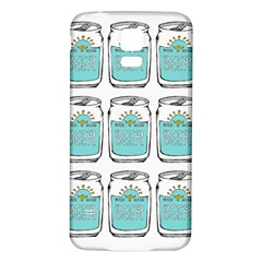 Beer Pattern Drawing Samsung Galaxy S5 Back Case (White)