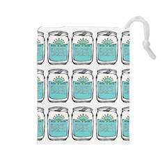 Beer Pattern Drawing Drawstring Pouches (Large)