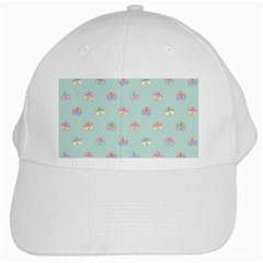 Butterfly Pastel Insect Green White Cap