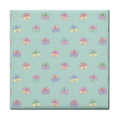 Butterfly Pastel Insect Green Tile Coasters