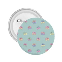 Butterfly Pastel Insect Green 2.25  Buttons