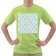 Butterfly Pastel Insect Green Green T-Shirt