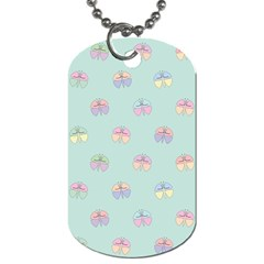 Butterfly Pastel Insect Green Dog Tag (Two Sides)