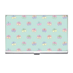 Butterfly Pastel Insect Green Business Card Holders
