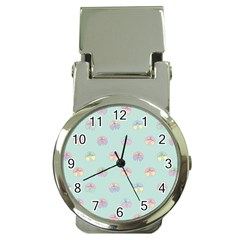 Butterfly Pastel Insect Green Money Clip Watches