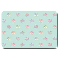 Butterfly Pastel Insect Green Large Doormat