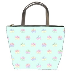 Butterfly Pastel Insect Green Bucket Bags