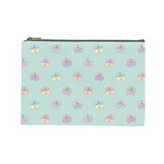 Butterfly Pastel Insect Green Cosmetic Bag (Large)