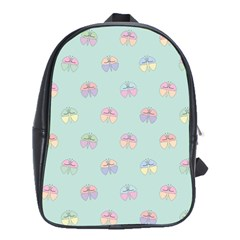 Butterfly Pastel Insect Green School Bags(Large)