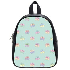 Butterfly Pastel Insect Green School Bags (Small)